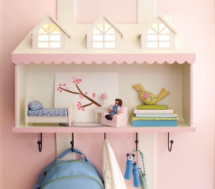 Dollhouse Light Up Shelf Das Puppenhaus Regal Von Pottery Barn Kids