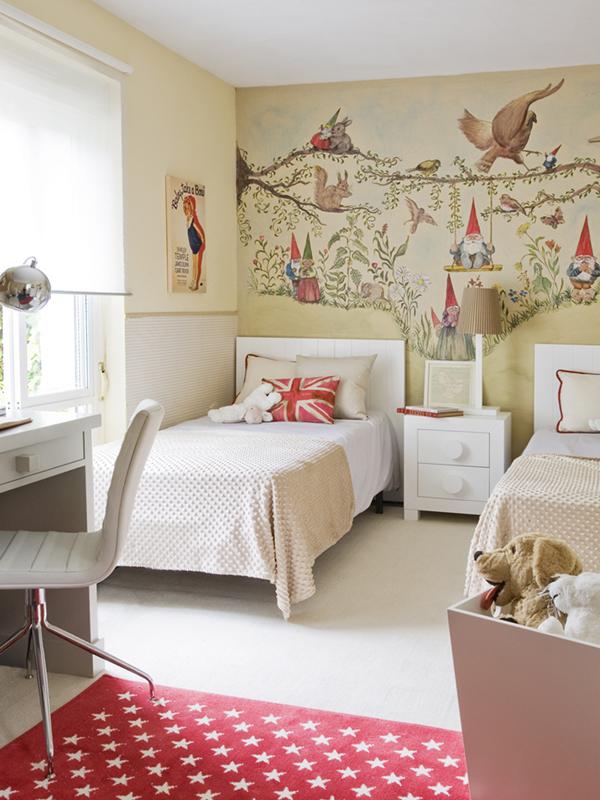 Wandbild mit Zwergen fürs Kinderzimmer (gemalt von Victoria Munin)