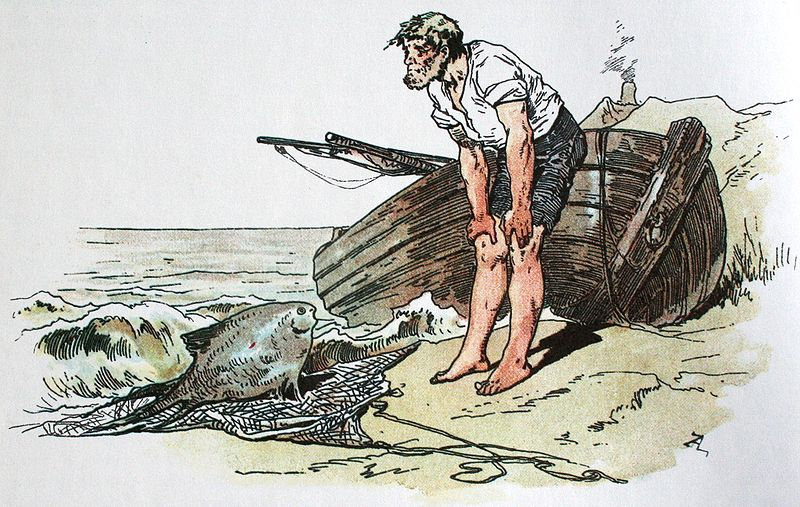 кто автор сказки о рыбаке и его жене