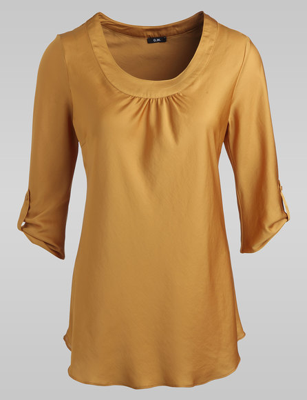 Krempelbare Bluse, Farbe: Curry (gefunden bei Gerry Weber Blusen unter http://www.house-of-gerryweber.de/Blusen/gerry-collection-bluse,de,sc.html)