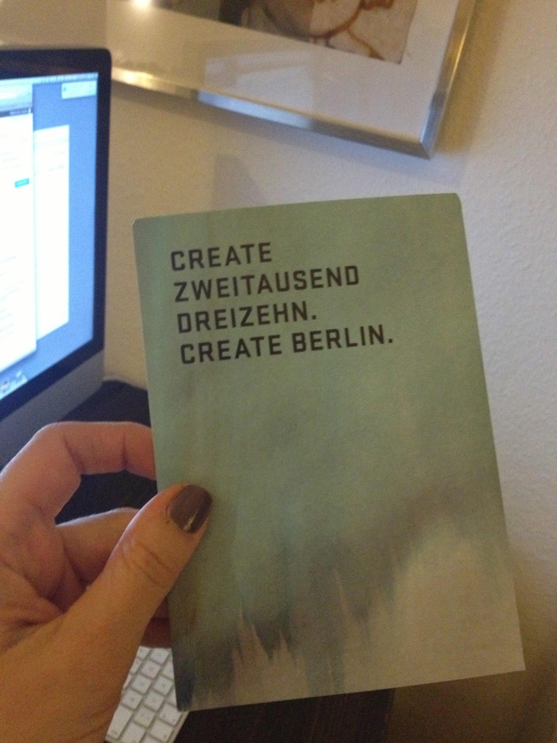 Werbepostkarte von Create Berlin
