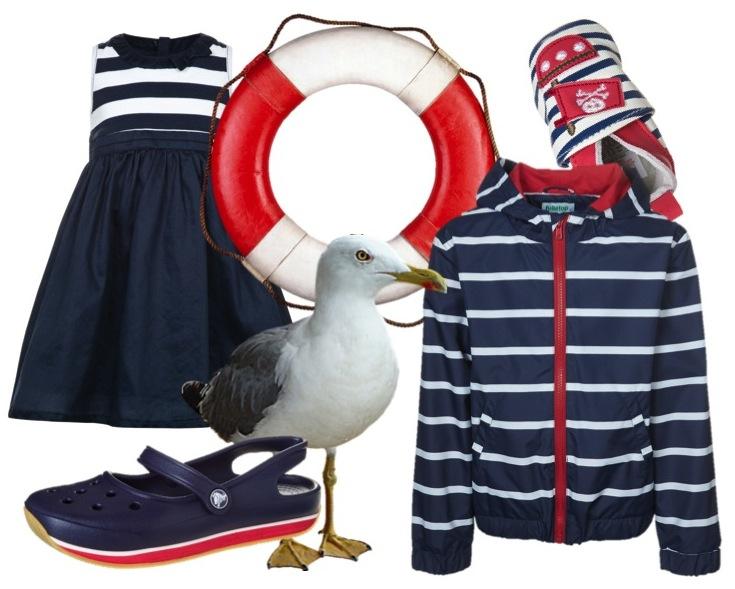 Kindermode im Marinelook