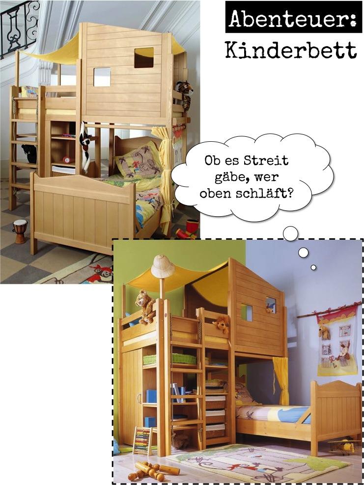 Außergewöhnliche Kinderbetten an außergewöhnlichen Fundstellen