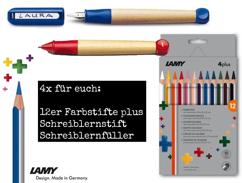 LAMY Schreiblernfüller, Schreiblernstift und 12 Farbstifte für euch