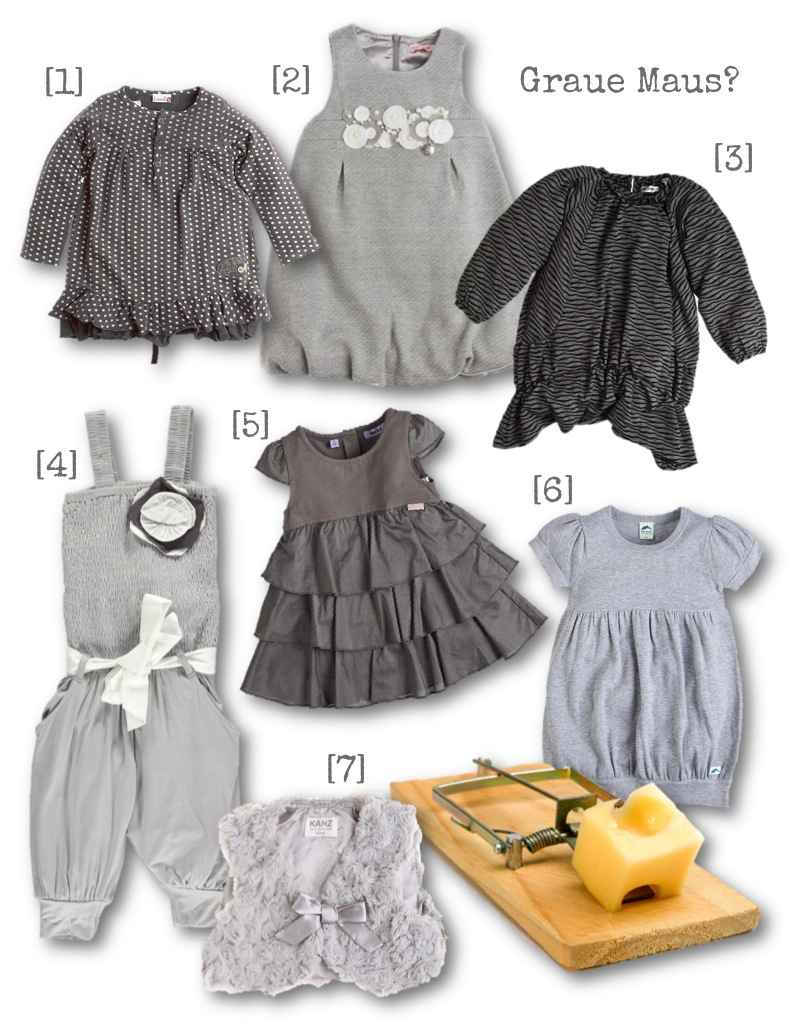 Mädchenkleidung in Grau: Nix da mit grauer Maus! (Fotoquelle: limango)