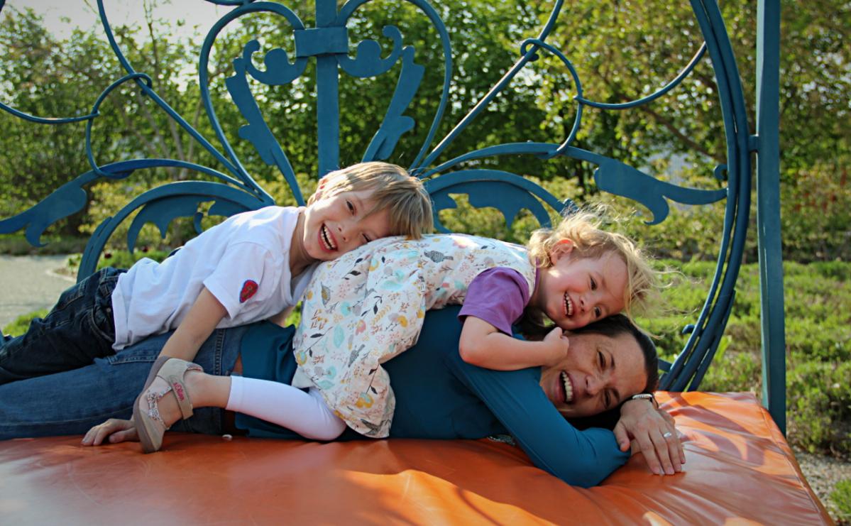 Familienausflug in den Schlosspark Oranienburg
