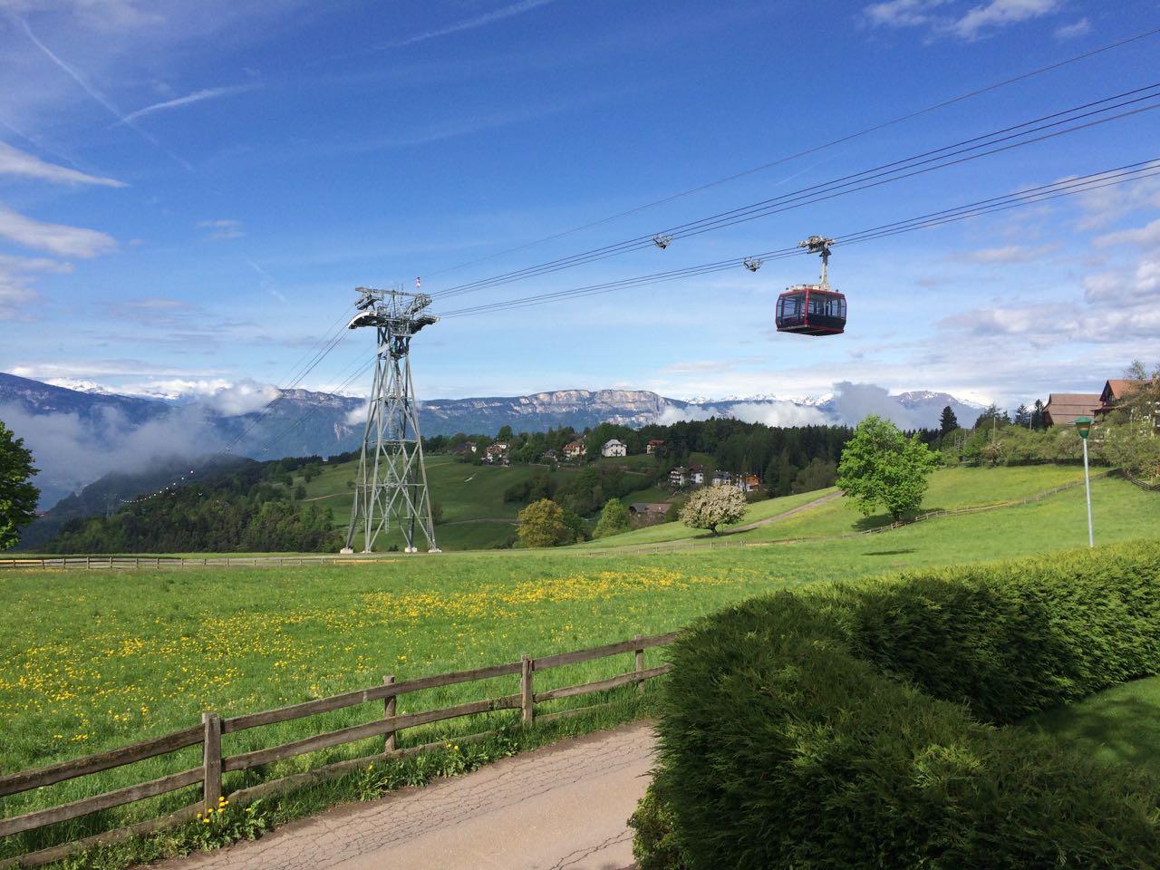 Ritterseilbahn von Bozen nach Oberbozen
