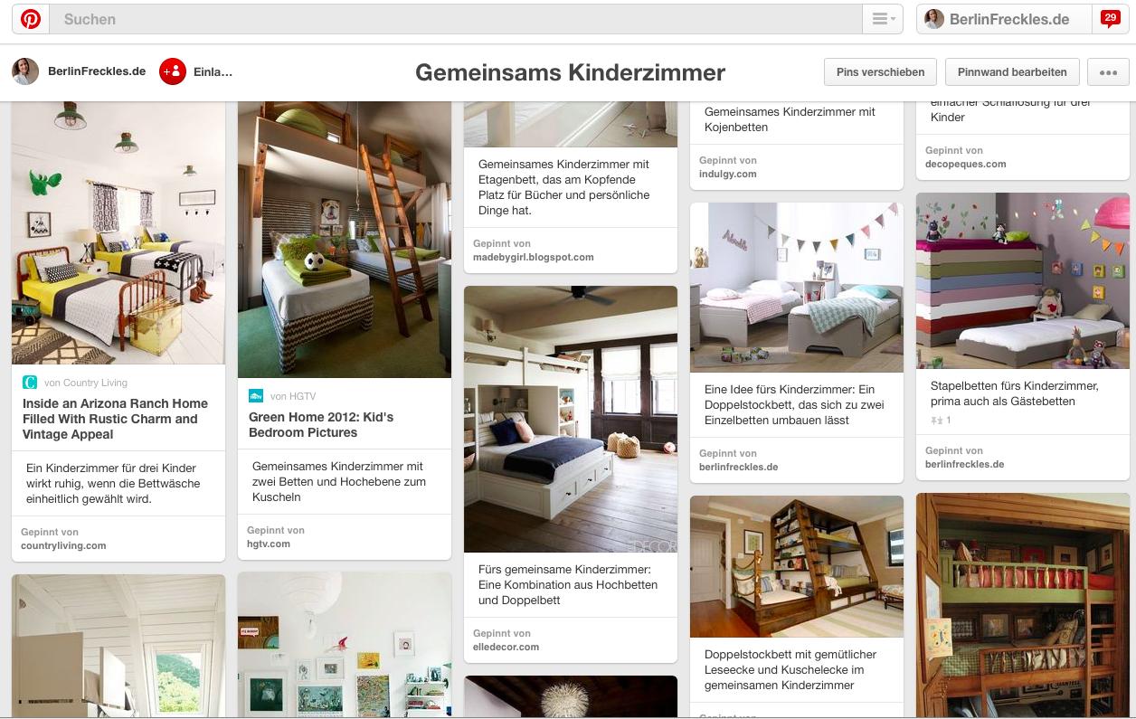 Mein Pinterest Board: Gemeinsames Kinderzimmer